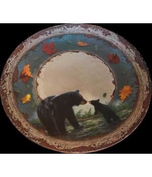 Platter Round Malamine 17in - Bear