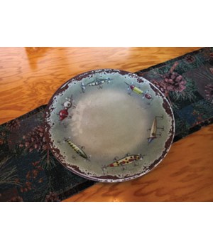 Platter Round Malamine 17in - Fish