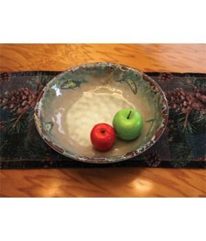 Bowl Round Melamine 13.5in - Fish