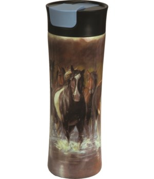 Travel Mug 16oz SS - Horse