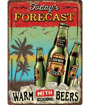 Tin Sign 12in x 17in - Forecast Beers