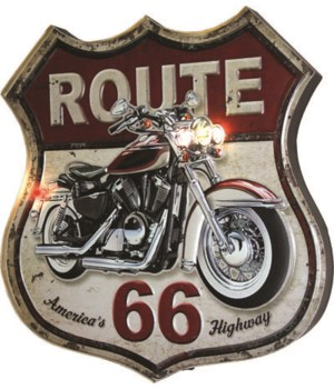 LED3D  Bar Sign - Route 66 2 x 14 x 18 in.