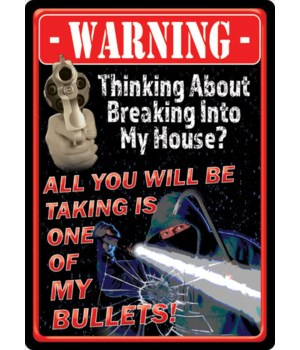 Tin Sign 12in x 17in - Take A Bullet