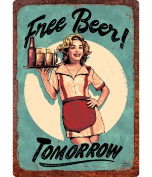 Tin Sign 12in x 17in - Free Beer