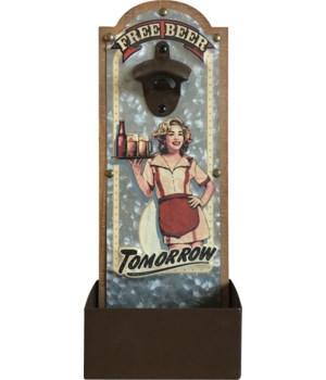 Bottle Opener - Free Beer 6.5 x 14.5 in.