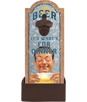 Bottle Opener - Beer Dinner 6.5 x 14.5 in.
