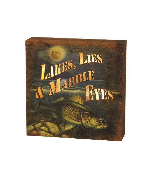 LED Box 6in x 6in - Lake Lies Marble