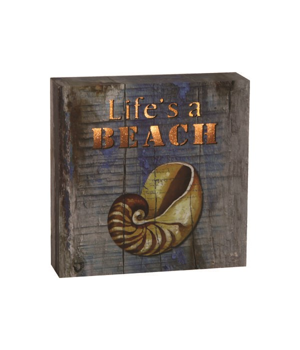 LED Box 6in x 6in - Life's a Beach