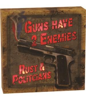 LED Box 6in x 6in - Rust & Politicians