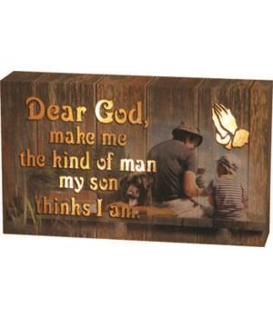 LED Box 8in x 5in - Dear God