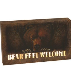 LED Box 8in x 5in - Bear Feet