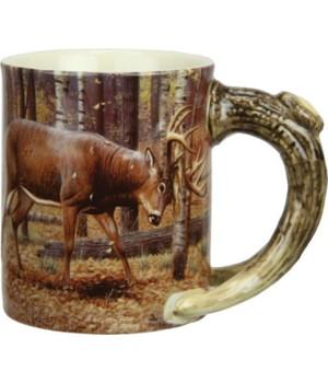 Ceramic Mug 3D 15oz - Deer Scene