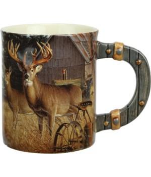 Ceramic Mug 3D 15oz - Deer/Farm