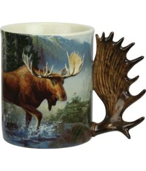 Ceramic Mug 3D 15oz - Moose Scene