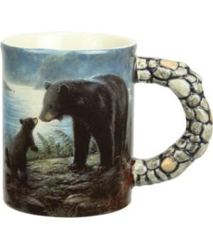 Ceramic Mug 3D 15oz - Bears Scene