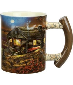 Ceramic Mug 3D 15oz - Cabin Scene