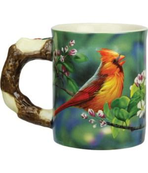 Ceramic Mug 3D 15oz - Cardinal