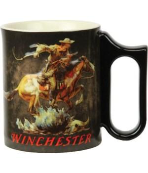 Ceramic Mug 3D 15oz - Winchester Horse/Rider
