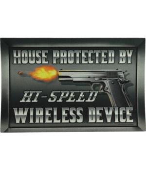 Door Mat Rubber 26in x 17in - Hi-Speed Wireless