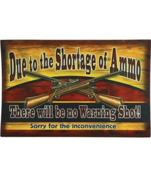 Door Mat Rubber 26in x 17in - Ammo Shortage