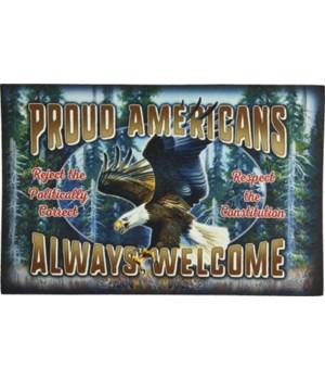 Door Mat Rubber 26in x 17in - Proud American