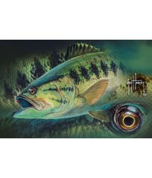 Door Mat Rubber 26in x 17in - Guy Harvey Bass