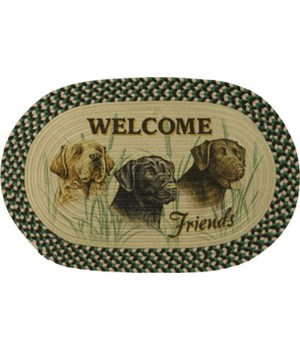 Braided Rug 26 in. Oval - Labs