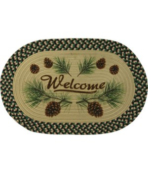 Braided Rug 26 in. Oval - Pine Cone
