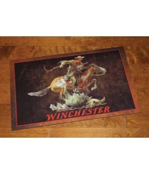 Door Mat Rubber 26in x 17in - Winchester Horse Rider