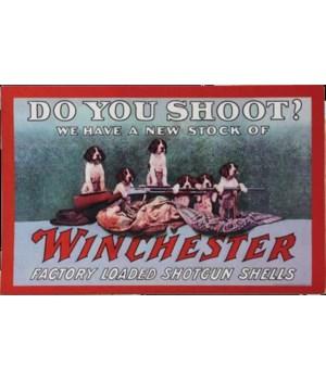 Door Mat Rubber 26in x 17in - Winchester Do You Shoot
