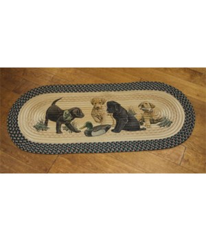 Braided Rug 48 in. Oval - Labs