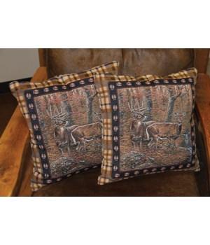 Tapestry Pillow 18in 2pk - Deer