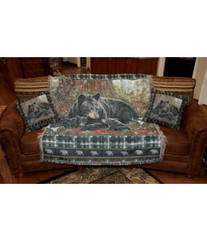 Tapestry Throw 50in x 60in - Bear