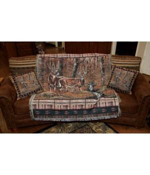 Tapestry Throw 50in x 60in - Deer
