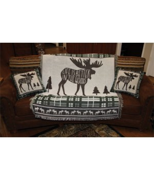 Tapestry Throw 50in x 60in - Moose
