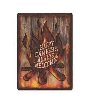 Tin Sign 12in x 17in - Campers Welcome