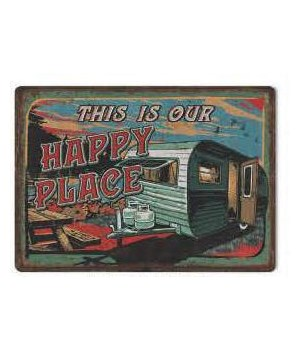 Tin Sign 12in x 17in - Happy Place