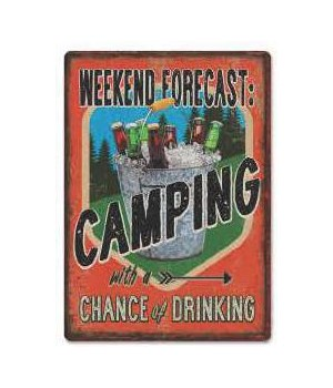 Tin Sign 12in x 17in - Forecast Camping