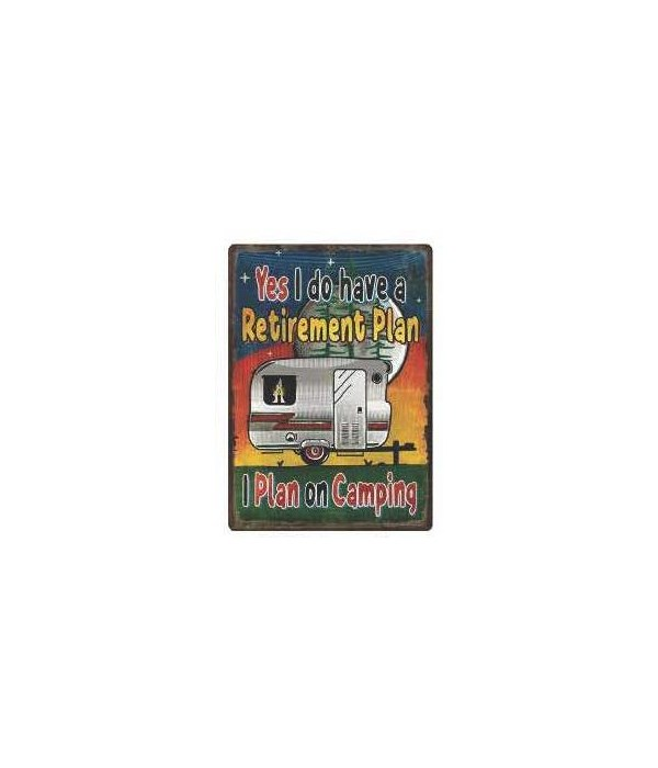 Tin Sign 12in x 17in - Retirement Plan