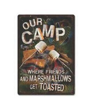 Tin Sign 12in x 17in - Friends Marshmallows