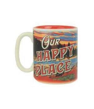 Ceramic Mug 16oz - Happy Place
