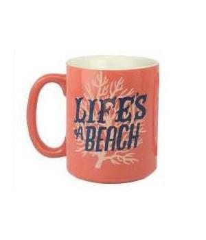 Ceramic Mug 16oz - Life's a Beach