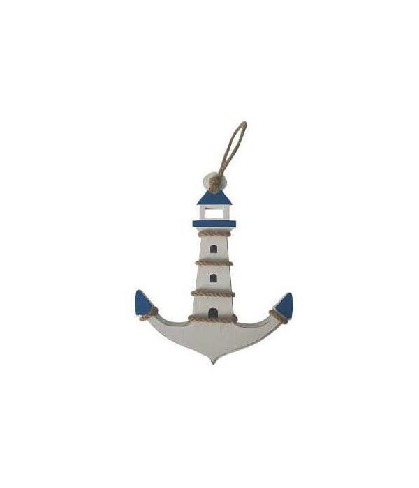 Wood Sign 10in x 8in - Lighthouse Anchor