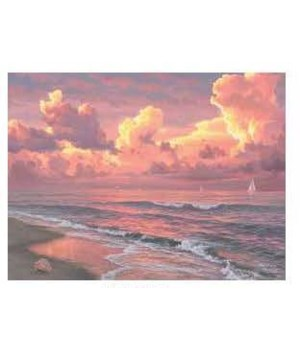 Canvas Art 12in x 16in - Sunset Sails