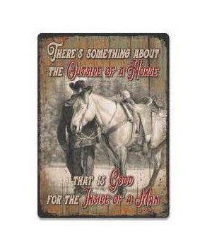 Tin Sign 12in x 17in - Outside of Horse