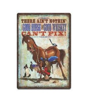 Tin Sign 12in x 17in - Horse Whiskey