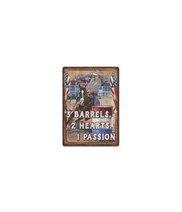 Tin Sign 12in x 17in - Barrels Passion