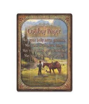 Tin Sign 12in x 17in - Cowbow Prayer
