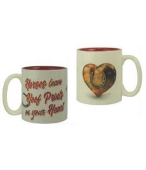 Ceramic Mug 16oz - Hoof Prints