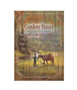 Wood Sign 12in x 17in - Cowboy Prayer